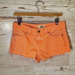 Victoria's Secret PINK orange jean shorts